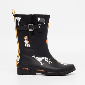 Women Mid-Calf Anti-Slip Rain Boots Adjustable Buckle