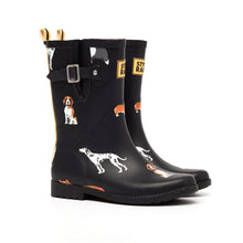 Charger l'image dans la galerie, Women Mid-Calf Anti-Slip Rain Boots Adjustable Buckle