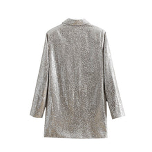 Charger l'image dans la galerie, Women Double Breasted Sequin Blazers