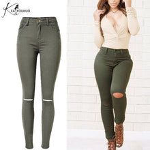 Charger l'image dans la galerie, Women Pencil Plus Size Cargo Jeans