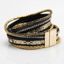 Charger l'image dans la galerie, Women Leather  wrap Magnetic Bracelets