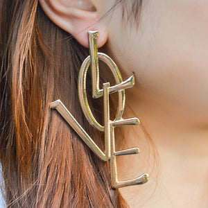 Women Exaggerated Ethic Boho Large Big Earring