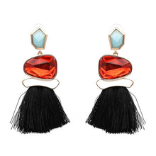 Charger l'image dans la galerie, Women Fringed Statement Earrings Tassel