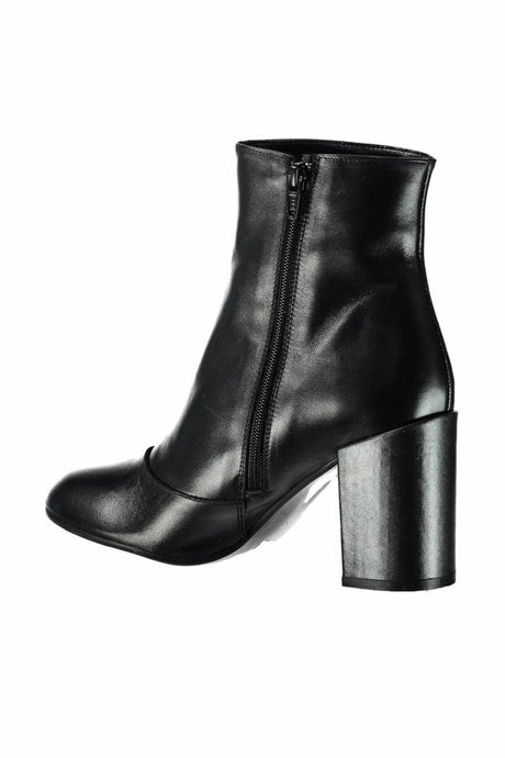 Women's Black Real Leather Boots