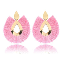 Charger l'image dans la galerie, Women Tassel Earrings Big Fringe