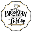 Official Brooklyn Teacup logo featuring tiered cake stand