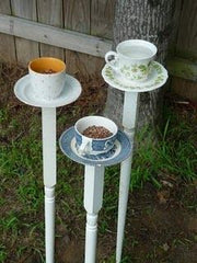 teacup and saucer bird feeders DIY with fine china