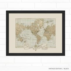 travel map unique wedding gift