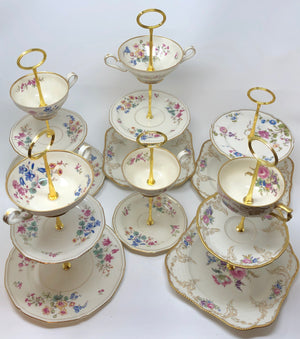 Upcycling grandma's delicate vintage china into tiered servers for tea parties and holiday gifts