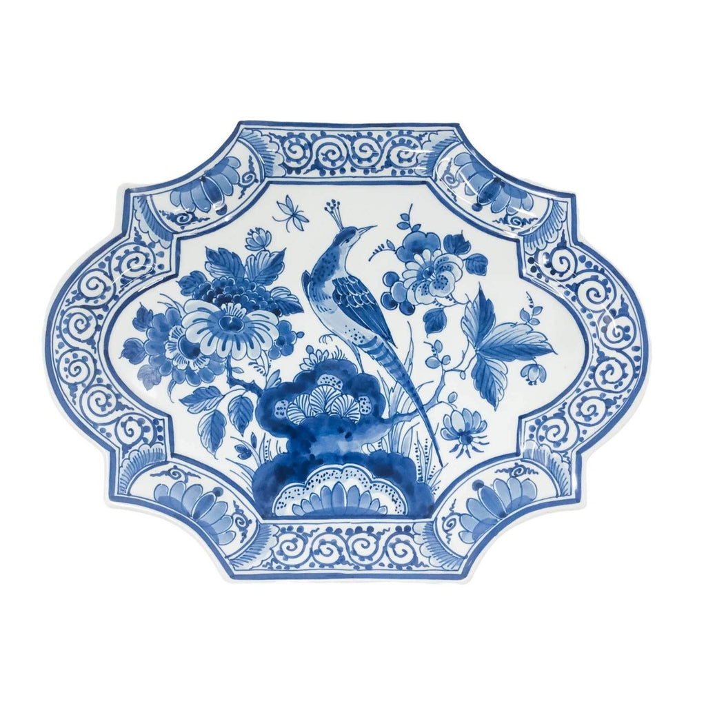 Delft Peacock | Decorative Platter Wall Decor | Delft - The Brooklyn Teacup