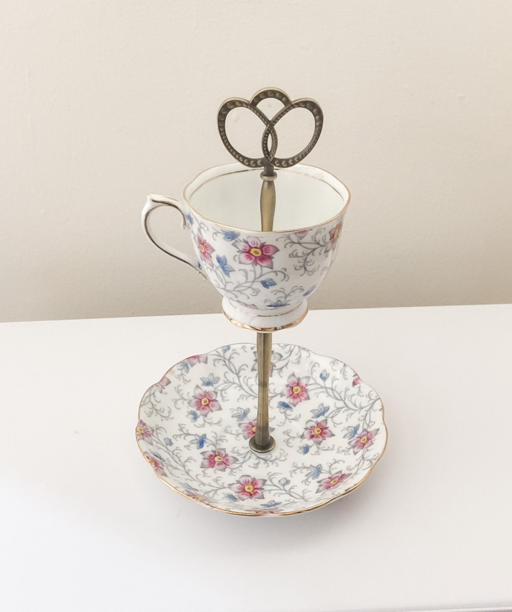 Floral teacup & saucer set | The Brooklyn Teacup - The Brooklyn Teacup