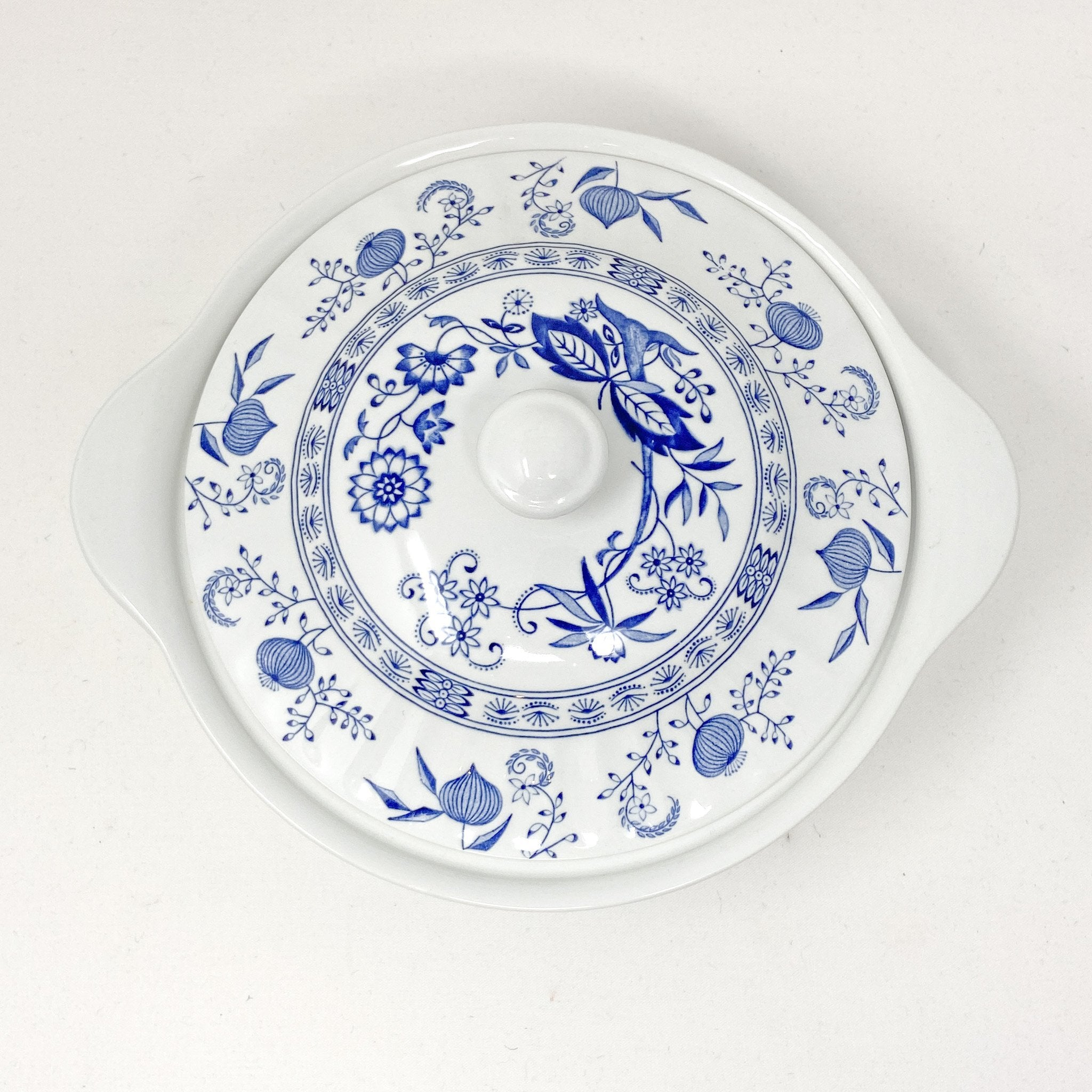 aerial view of Signature Blue & White | Casserole Dish | The Brooklyn Teacup