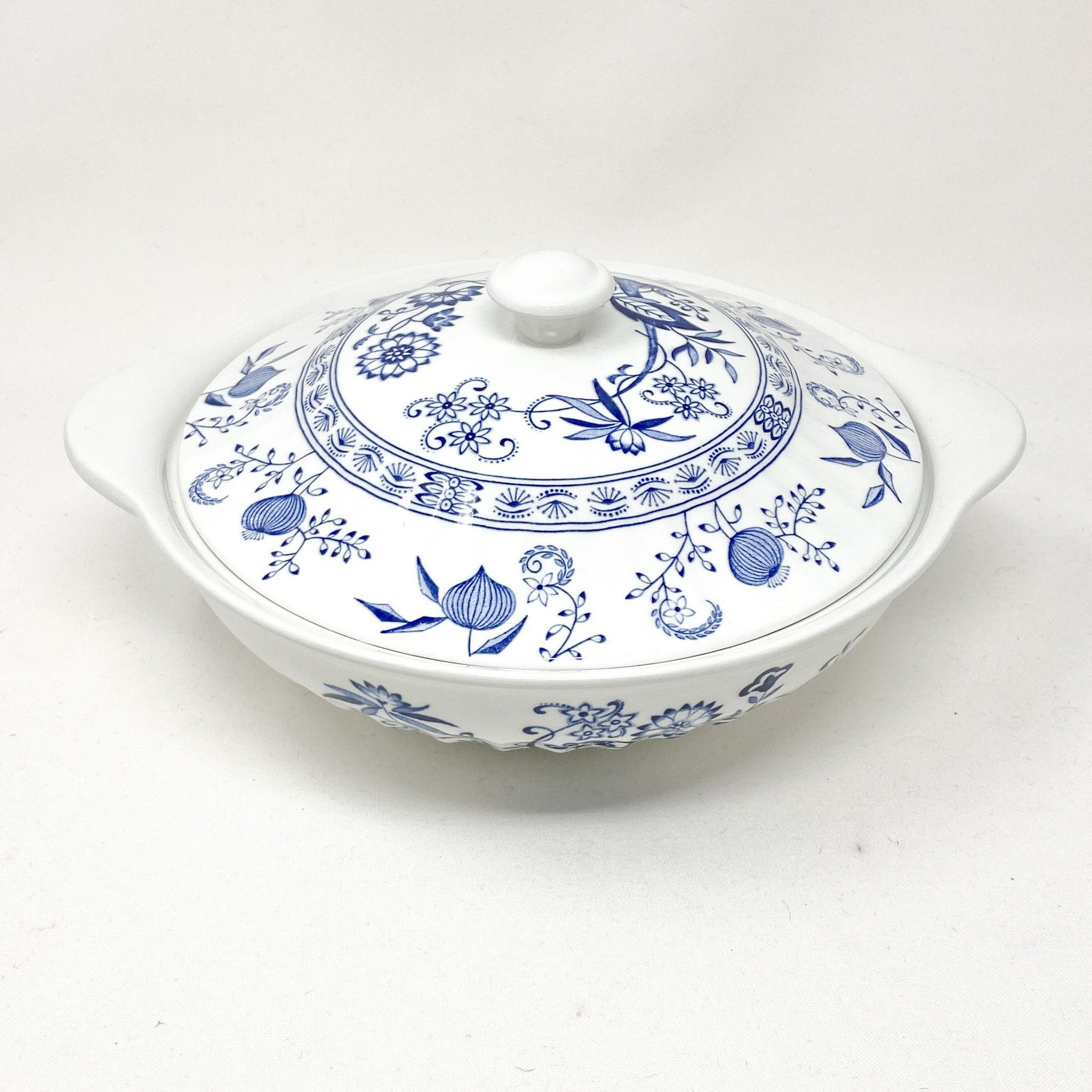top view of Signature Blue & White | Casserole Dish | The Brooklyn Teacup