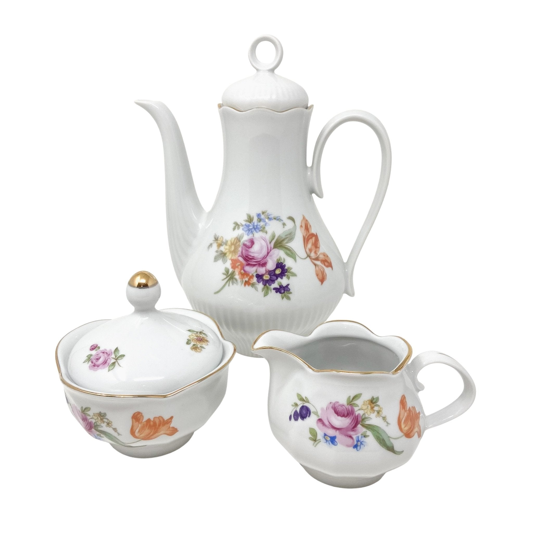 Jimenau Graf von Henneberg | Coffee Pot, Creamer, & Sugar Bowl | JLMEANU - The Brooklyn Teacup