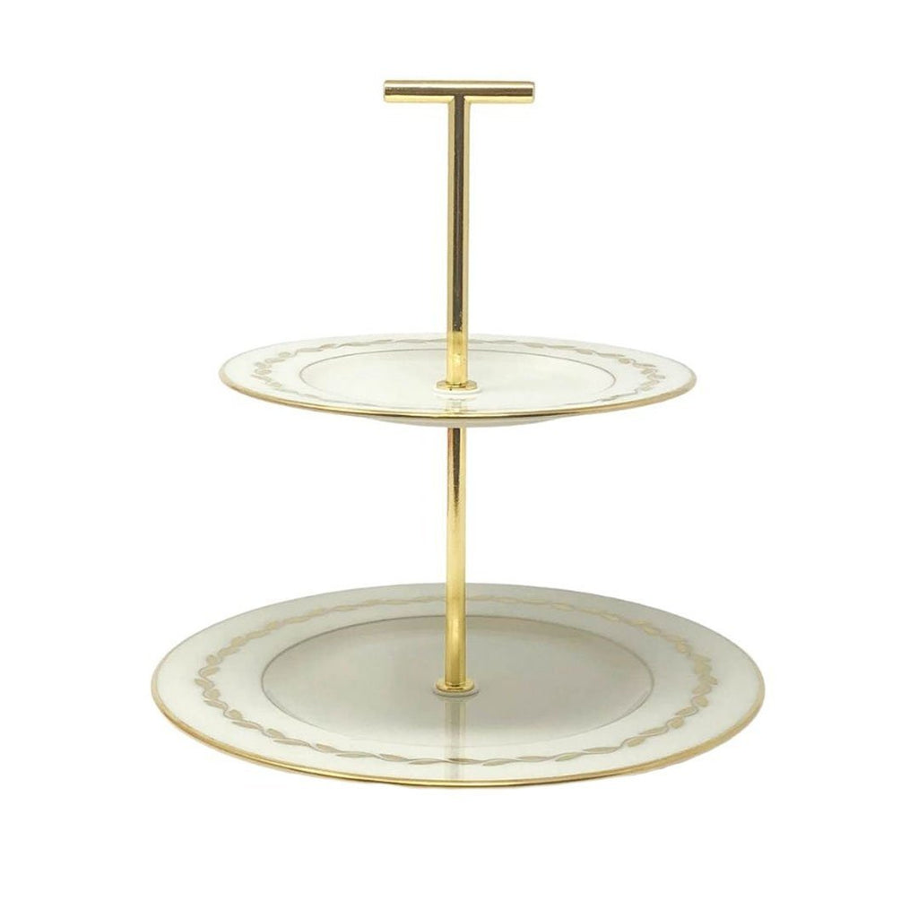 Lenox Gold Wreath | 2-Tier | Lenox - The Brooklyn Teacup