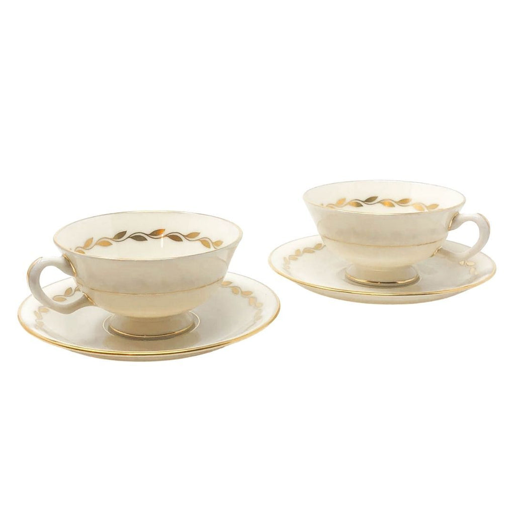Lenox Gold Wreath | Teacup & Saucer (Set of 2) | Lenox - The Brooklyn Teacup