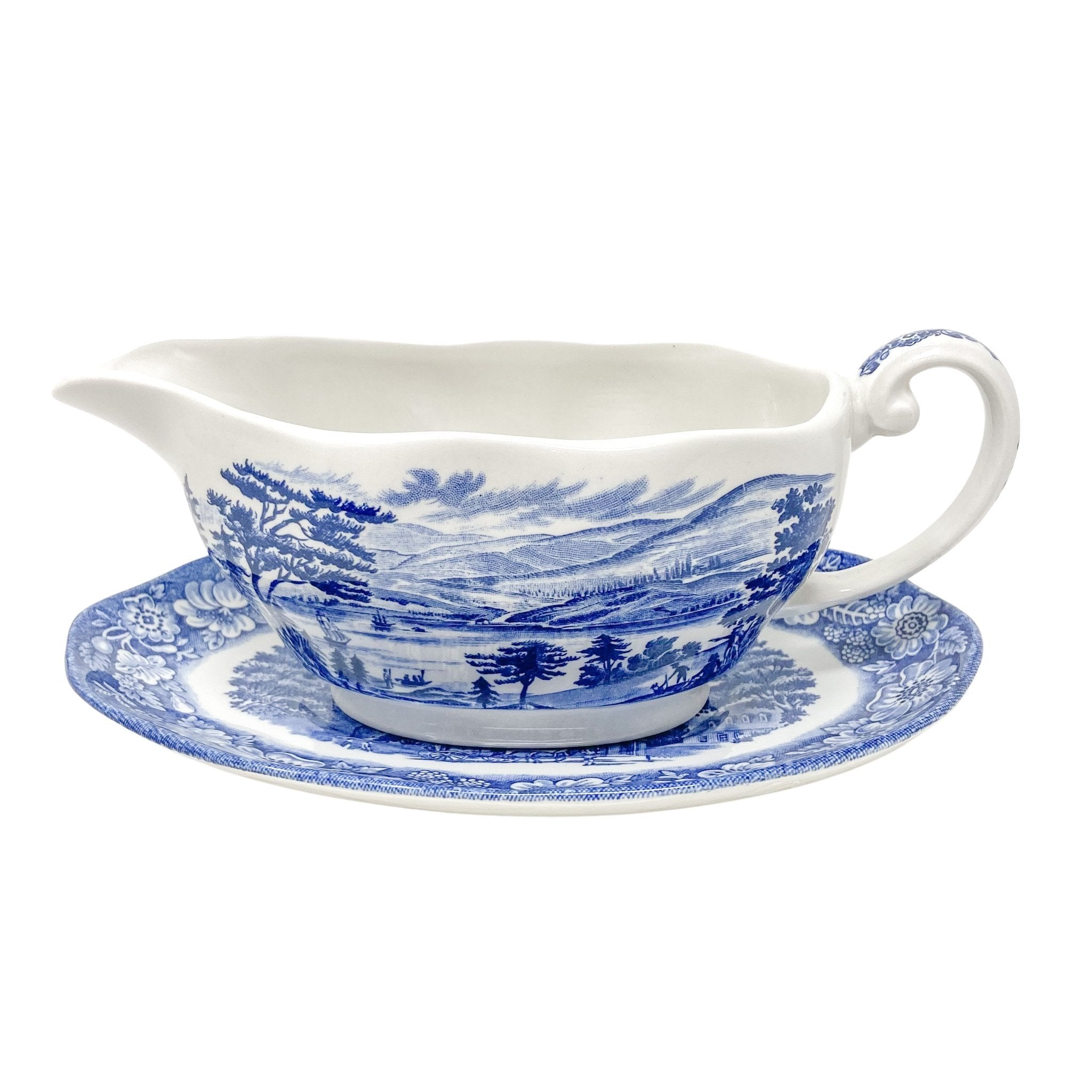 Vintage Liberty Blue Lafayette Landing Gravy Boat | The Brooklyn Teacup