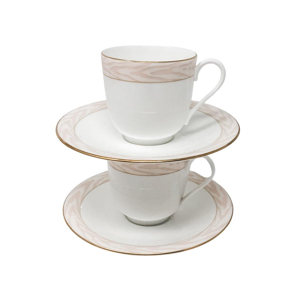 Mikasa Silk Moire | Teacup & Saucer (Set of 2) | Mikasa - The Brooklyn Teacup