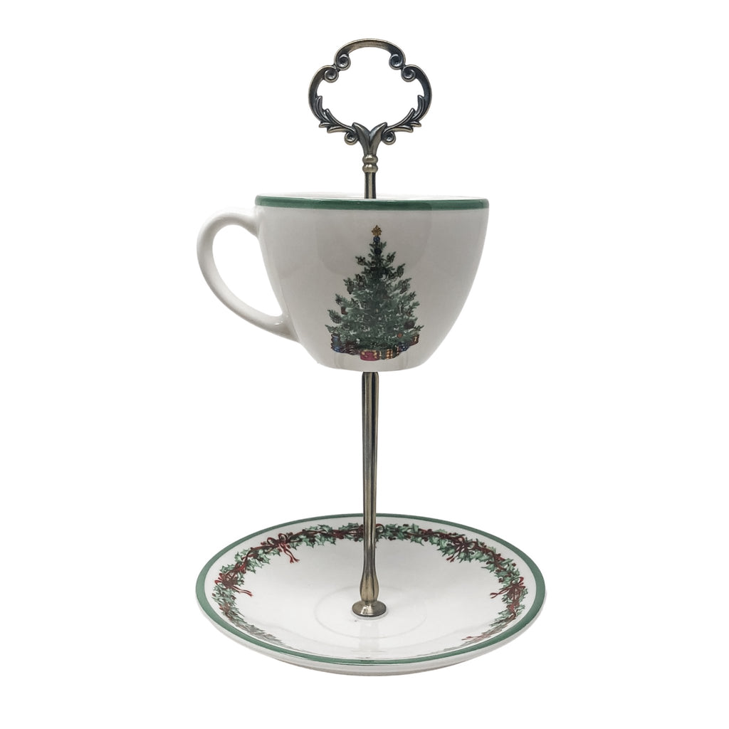 Radko Christmas Traditions | Teacup and Saucer Stand | Christopher Radko - The Brooklyn Teacup