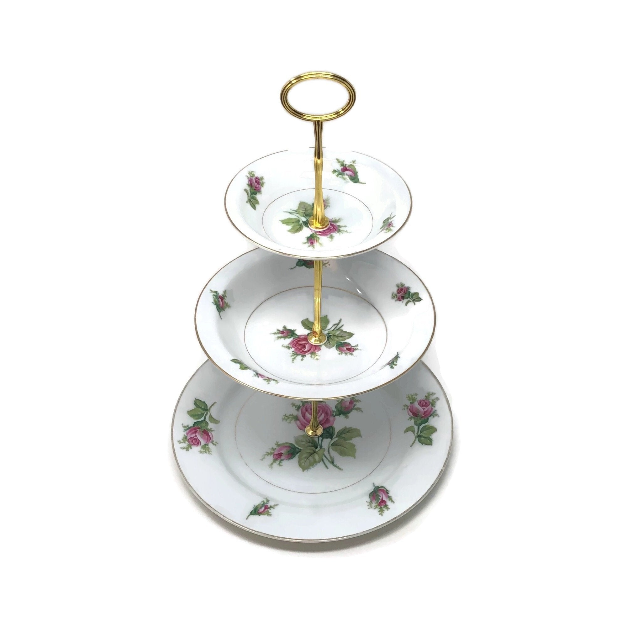 Roseverte Kyoto: 3-Tier | The Brooklyn Teacup - The Brooklyn Teacup
