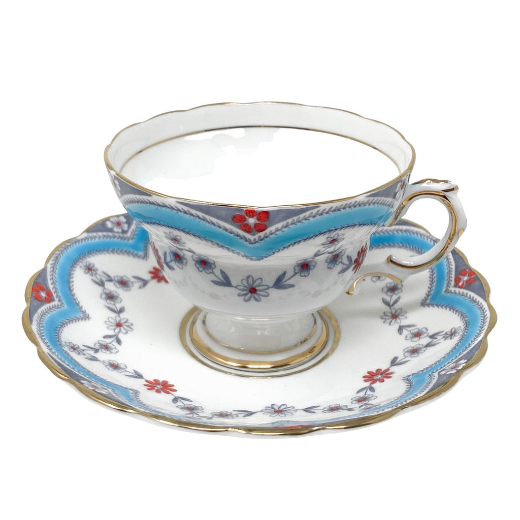 Rosina Laurels & Daisies | Teacup & Saucer | Rosina - The Brooklyn Teacup