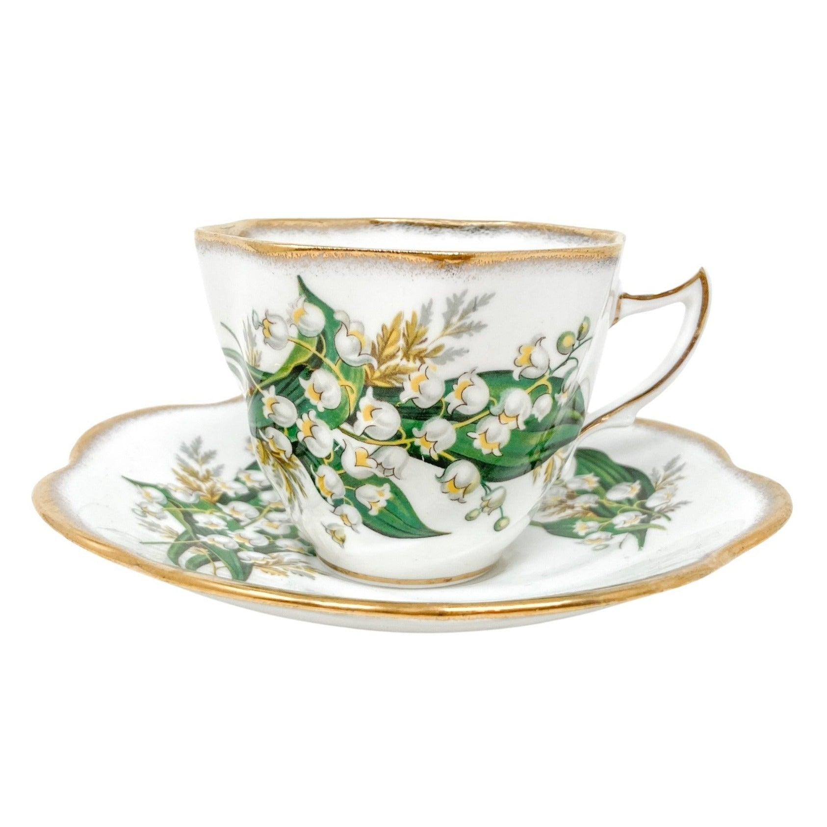Rosina Lily of the Valley | Teacup & Saucer | Rosina - The Brooklyn Teacup