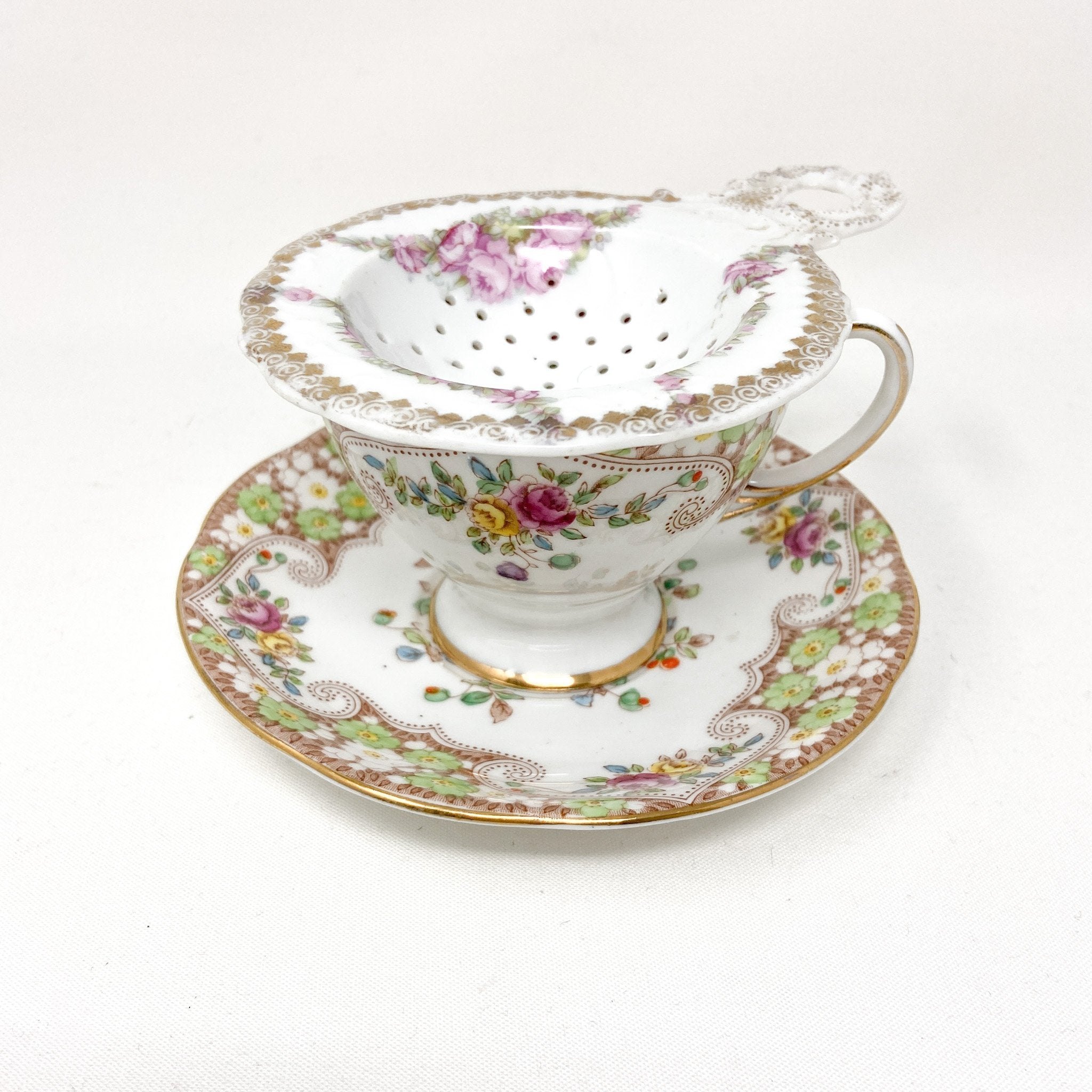 Royal Standard Rosemary | Teacup, Saucer & Strainer | The Brooklyn Teacup - granmillenial, cottagecore