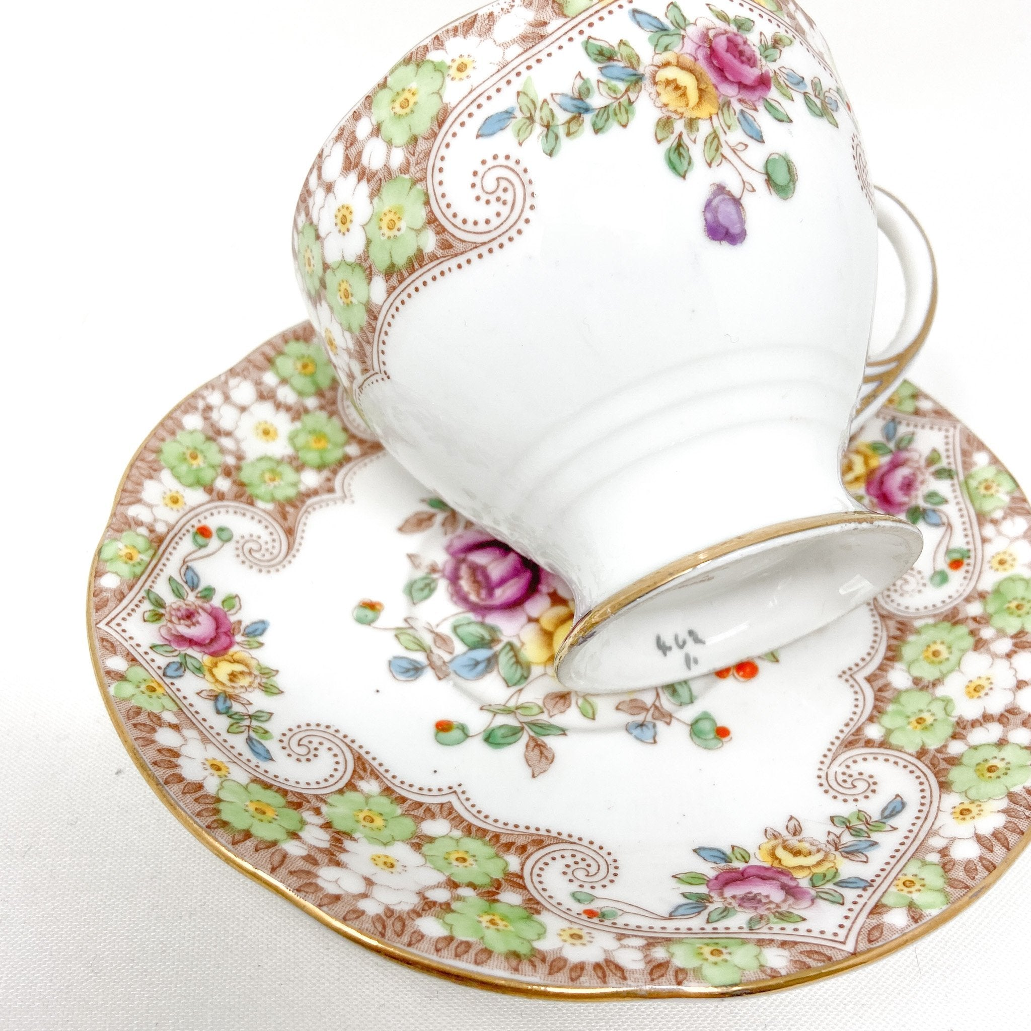 close up of Royal Standard Rosemary | Teacup, Saucer & Strainer | The Brooklyn Teacup