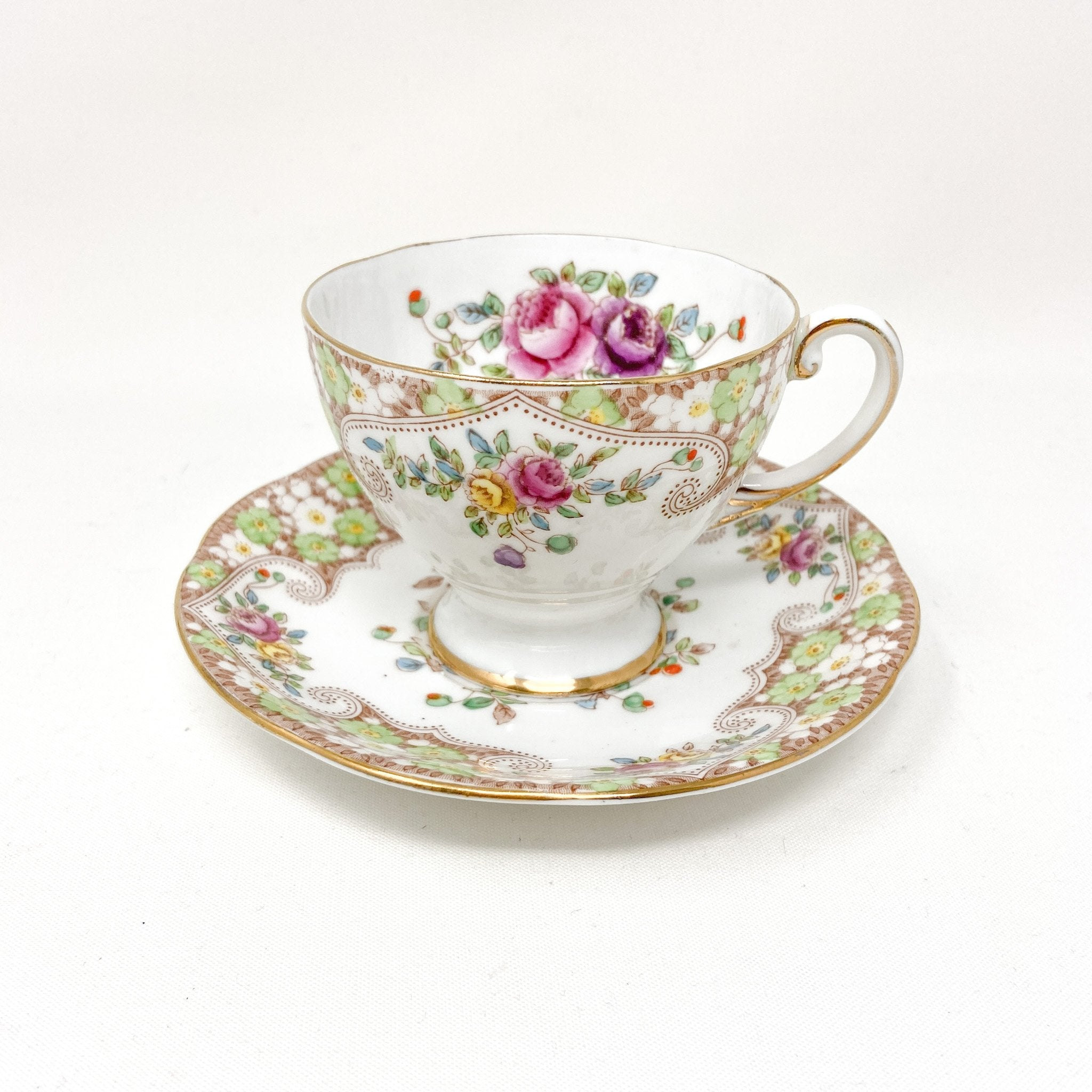 Royal Standard Rosemary | Teacup, Saucer & Strainer | The Brooklyn Teacup - without the strainer