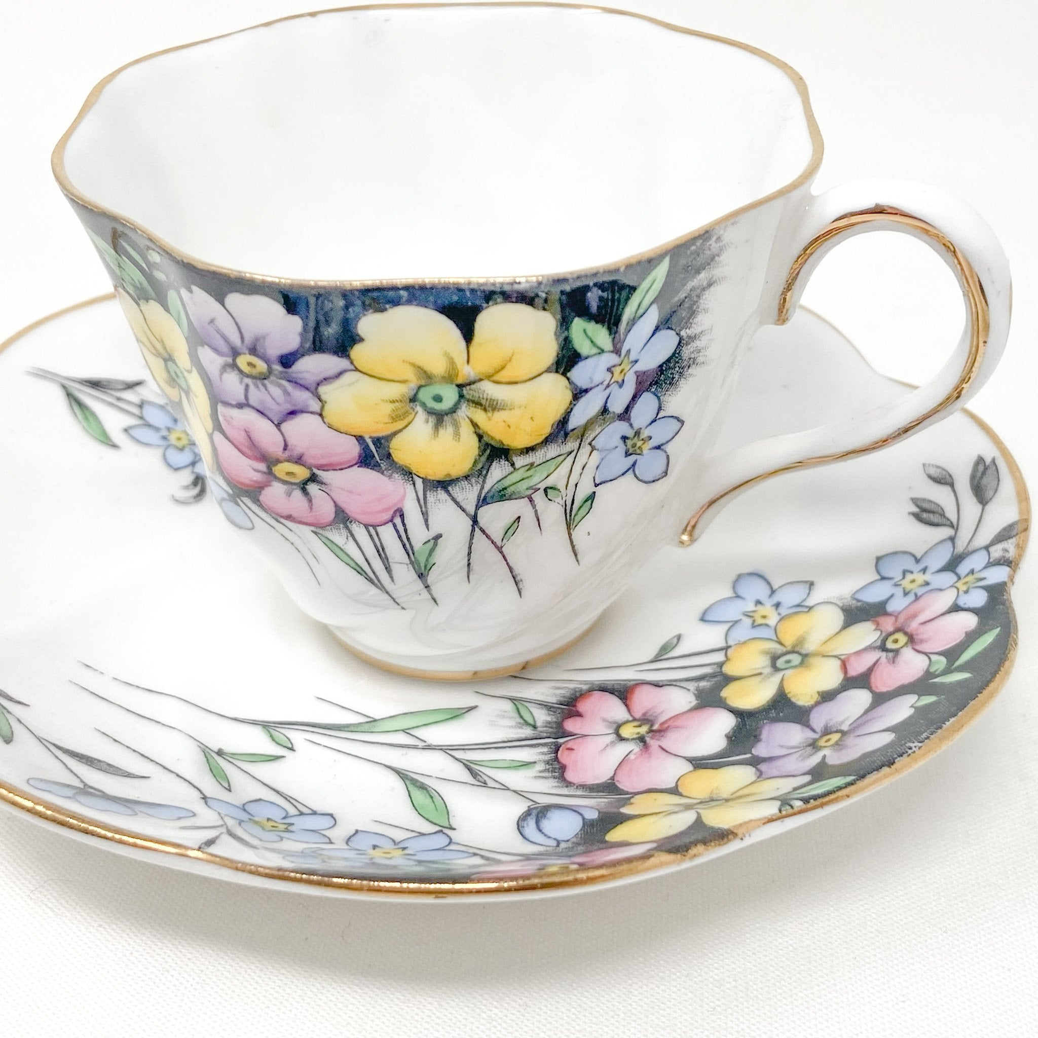 Salisbury Floral Bouquet | Demitasse cup & saucer | Salisbury - The Brooklyn Teacup