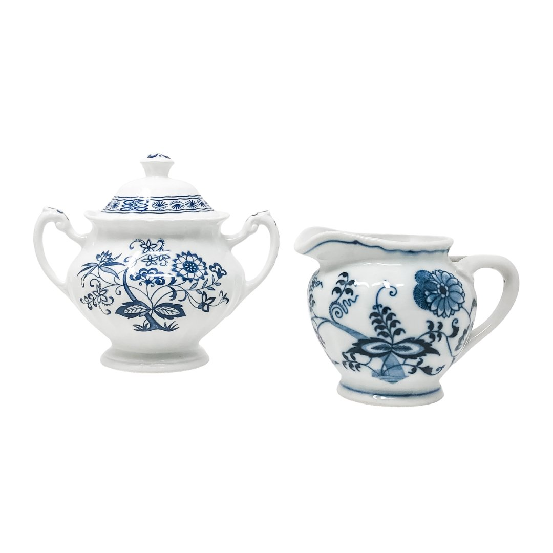 Signature Blue & White | Mismatched Sugar & Creamer Set | Assorted - The Brooklyn Teacup