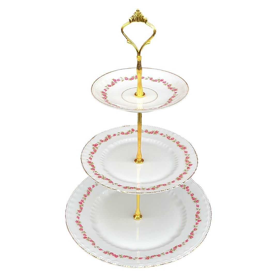 Victoria Austria Delicate Rose (VTO43) | 3-Tier | Victoria Austria - The Brooklyn Teacup
