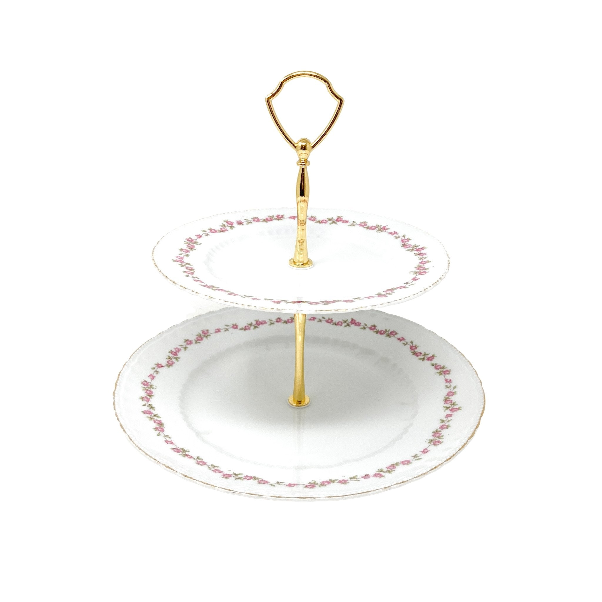 2-Tiered Victoria Austria Delicate Rose Stand - perfect for Mother's Day, Valentine's Day, Birthday or housewarming gift