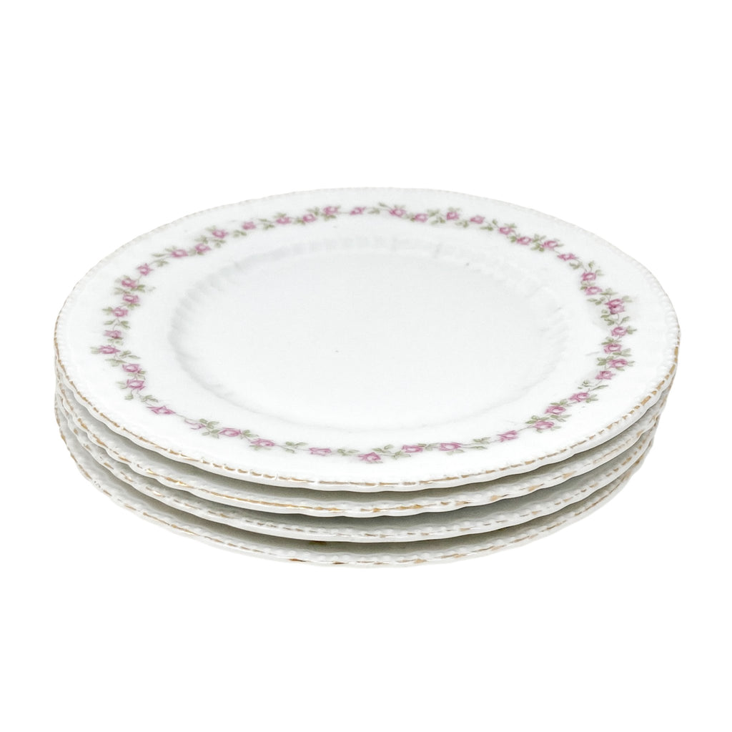 Victoria Delicate Rose | Bread & Butter Plates (Set of 4) | The Brooklyn Teacup - perfect for afternoon tea parties