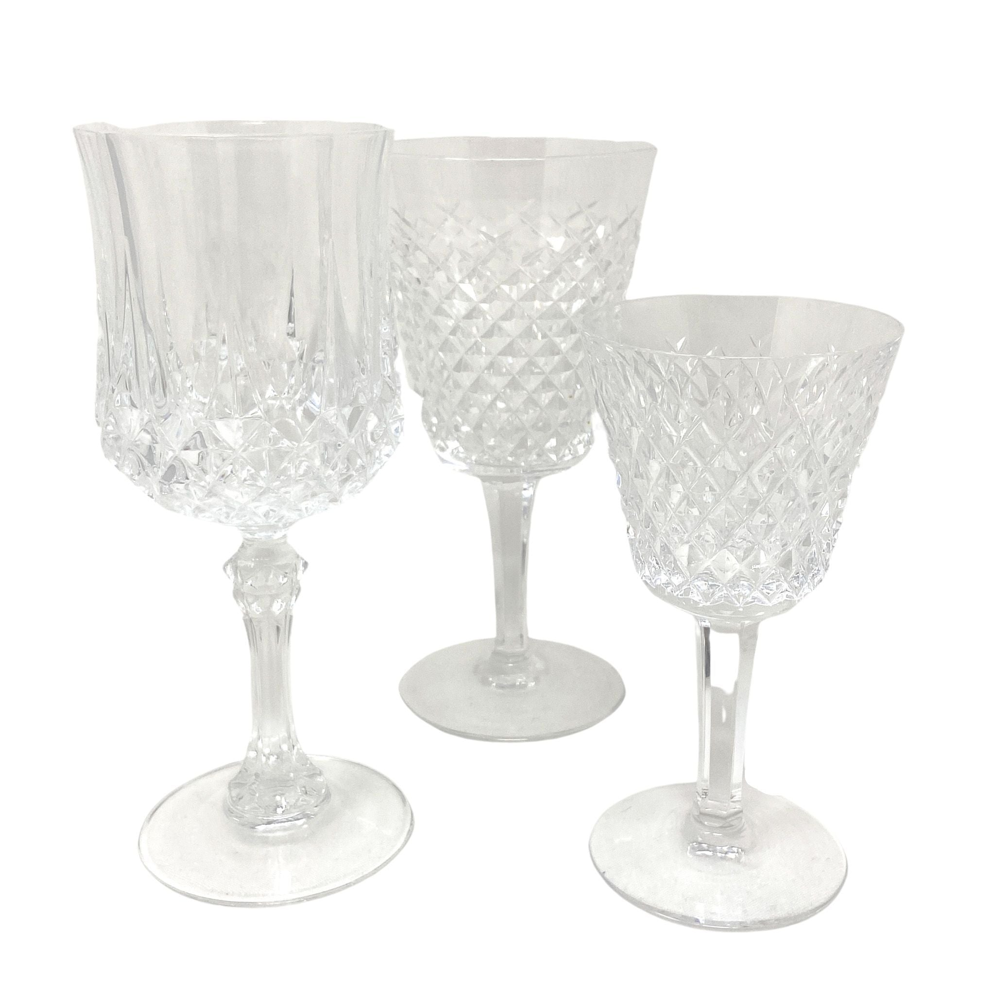 Vintage Waterford Faceted Crystal Goblets in 3 heights | The Brooklyn Teacup