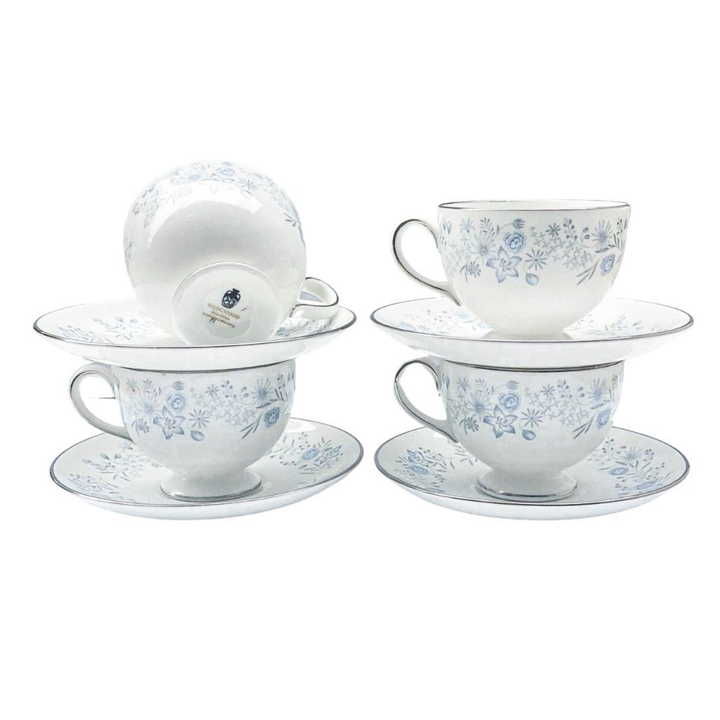 Wedgwood Belle Fleur | Teacup & Saucer (Set of 2) | Wedgwood - The Brooklyn Teacup
