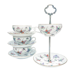 Whimsical Butterfly | Teacup & Saucer Stand | Unknown - The Brooklyn Teacup