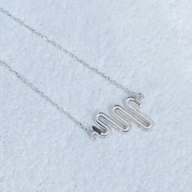 Electric Path Necklace - Sterling Silver
