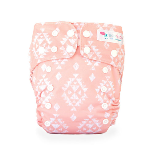 Eco Naps OSFM Cloth Nappy - Aztec Peach