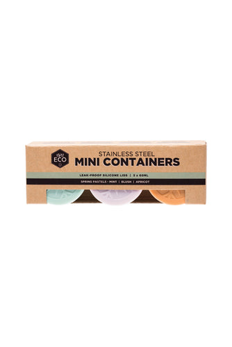 EVER ECO Stainless Steel Mini Containers Spring Pastels - 3pk