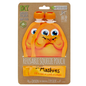 LITTLE MASHIES Reusable Squeeze Pouch - Pack of 2