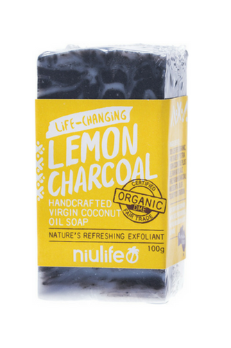 NIULIFE Coconut Oil Soap - Lemon Charcoal