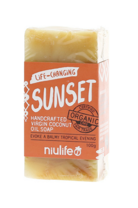 NIULIFE Coconut Oil Soap - Sunset Turmeric