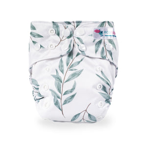 Eco Naps OSFM Cloth Nappy - Olive Leaf