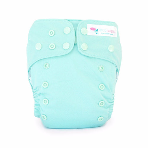 Eco Naps OSFM Cloth Nappy - Turquoise Sea