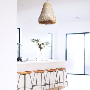 Fringe Natural Woven Raffia Pendant Light (PRE-ORDER)
