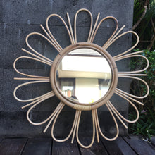 Load image into Gallery viewer, Boho Natural Rattan Mirror (PRE-ORDER)