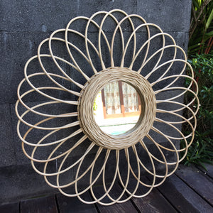 Sunflower Natural Rattan Mirror (PRE-ORDER)