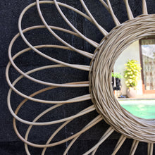 Load image into Gallery viewer, Sunflower Natural Rattan Mirror (PRE-ORDER)