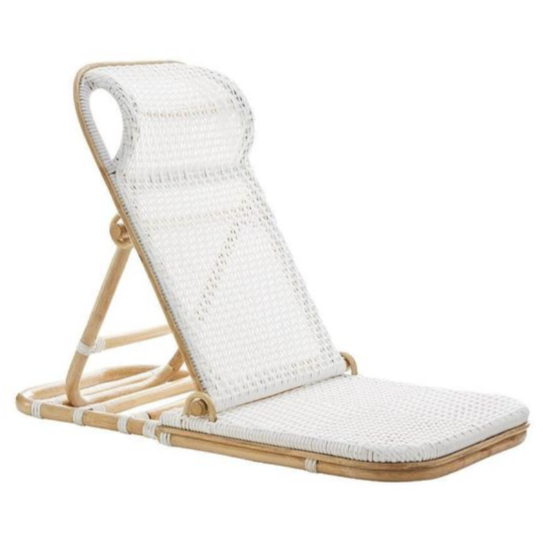 Jekumah Folding Rattan Beach Chair (PRE-ORDER)